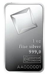 Sztaba srebra LBMA 1 oz