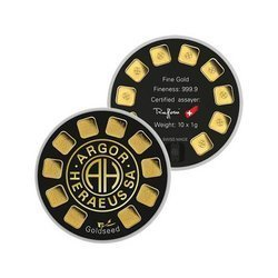 Sztaba złota ARGOR-HERAEUS Goldseed 10 x 1 g